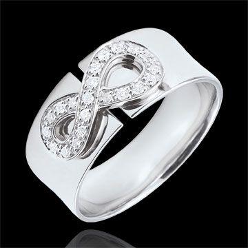 bijouterie Bague Infini - or blanc et diamants - 18 carats