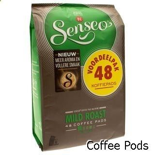 Coffee Pods - Senseo Coffee Pods - 48 Pods - Different Flavor - Imported From Netherlands