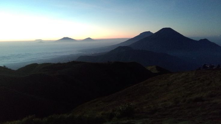 Golden sunrise mt. Prau, dieng, wonosobo