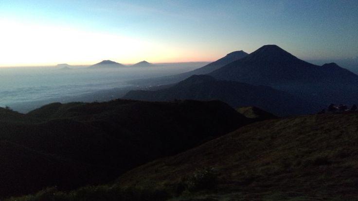 Golden sunrise mt. Prau, dieng, wonosobo