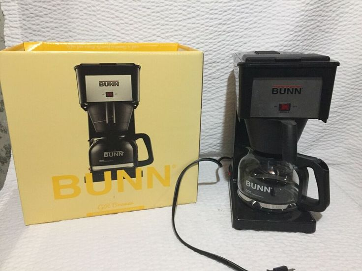 Bunn 10 Cup Speed Brew Drip Coffee Maker Model Gr Bremer Black Bunn