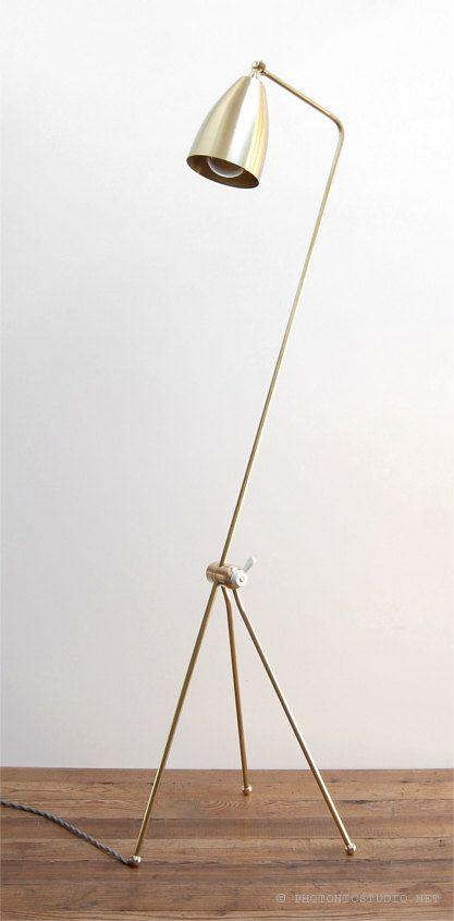 Mid Century Modern Solid Brass Grasshopper Floor by PhotonicStudio