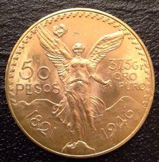 Mexico - 50 Pesos 1946 - Gold