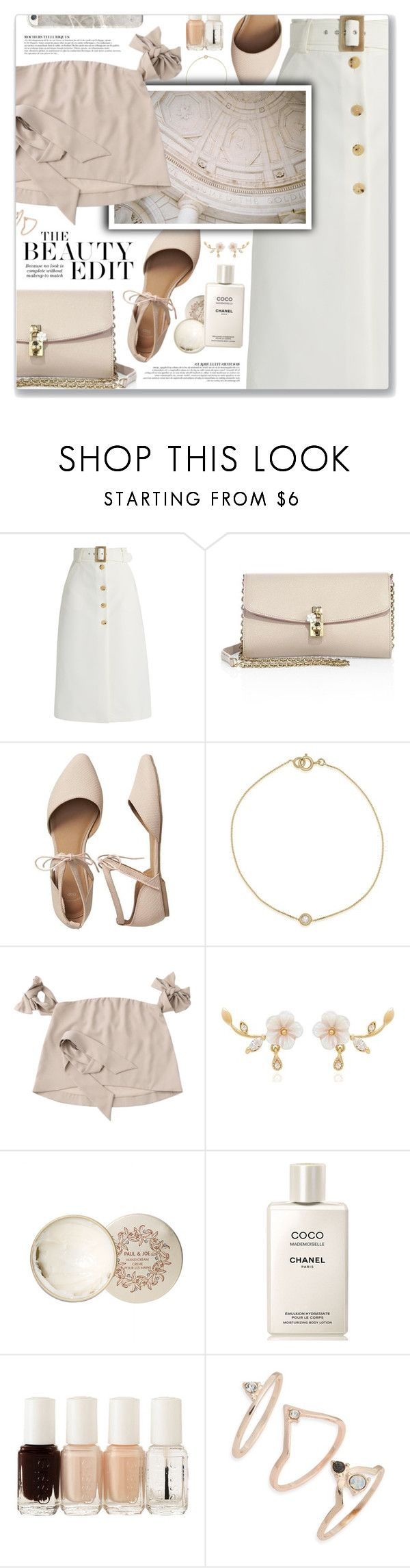 """""""See You Soon, Coldplay"""" by blendasantos ❤ liked on Polyvore featuring Anja, Bella Freud, Dolce&Gabbana, Gap, Paul & Joe, Chanel, Essie and Topshop"""