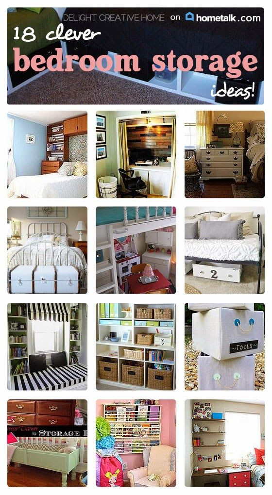 Thank goodness for these bedroom storage ideas! My bedroom is way too tiny and these ideas are PERFECT!
