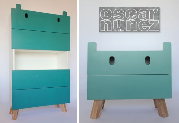 Artistic! Mostros kids furniture by Oscar Nuñez