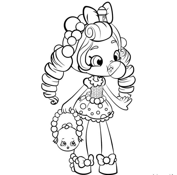 Bubbleisha Shopkins Shoppies coloring pages | Shopkin ...