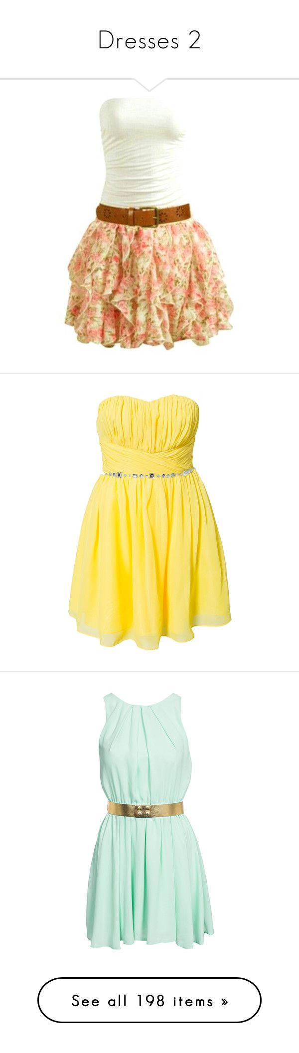 """""""Dresses 2"""" by maggie007armstrong ❤ liked on Polyvore featuring dresses, short dresses, vestidos, beige dress, beige short dress, mini dress, yellow, party dresses, womens-fashion and yellow dress"""