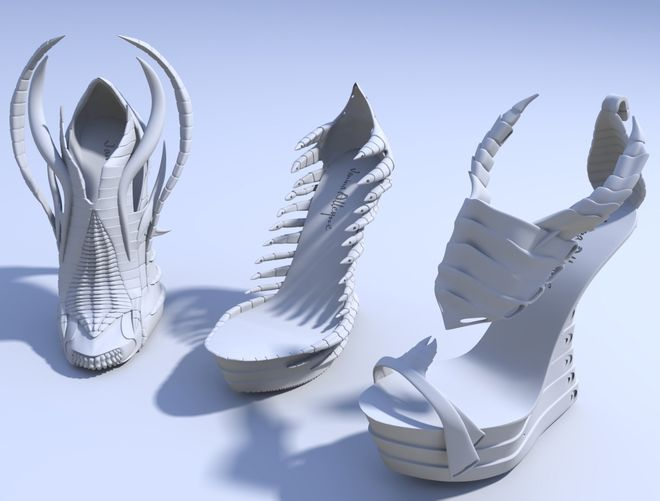Sexy Cool 3D Printed Shoes by Janina Alleyne – SolidSmack.com
