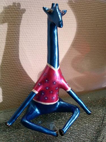 yogarafje. Giraf. Giraffe. Papier mache