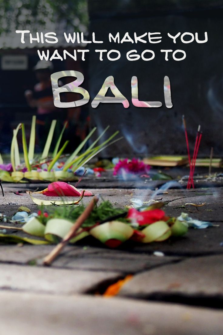 PHOTO INSPIRATION - This will make you want to go to Bali!