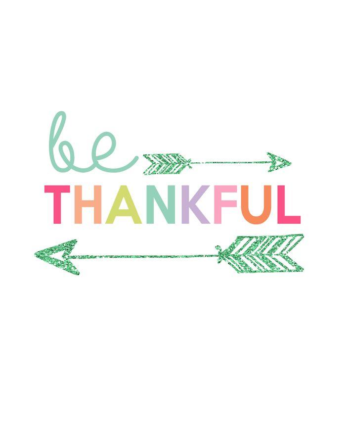 Be Thankful Printable | Day 7 Kids Prints Series - The Girl Creative