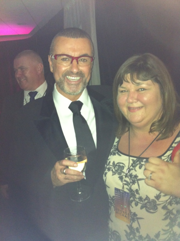"Cheryl ""Hev"" Fergison meets George Michael... Finally ! ;> x #Symphonica 2012"