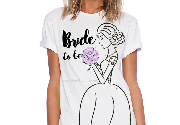 Bride to be Tshirt http://www.zazzle.com/bride_to_be_shirts-235281926883215739  #zazzle #bridetobe #tshirt #illustration #watercolor #wedding #bride