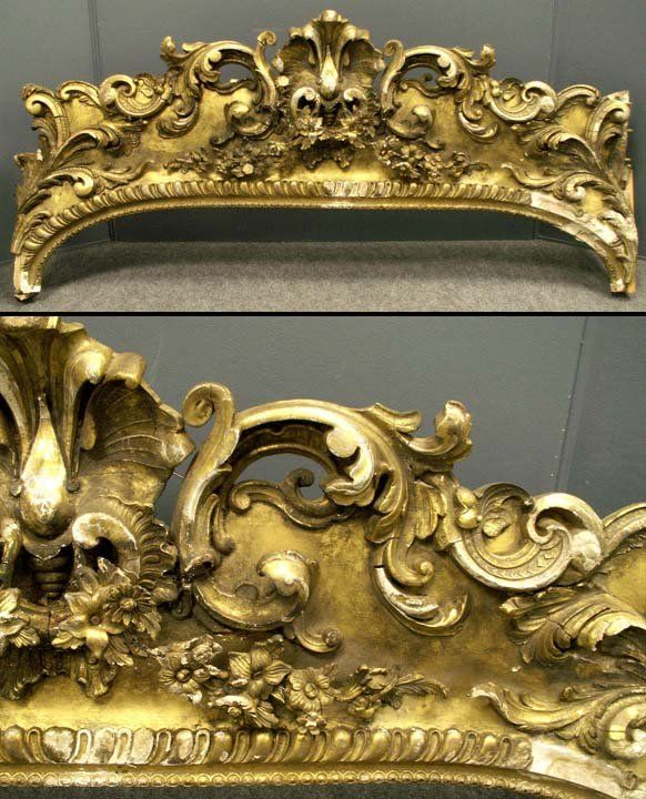 gilded victorian valance