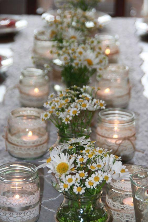 Vyzdoba Svatebniho Stolu Jinak Nez Kvetinami Dekorace Pinterest