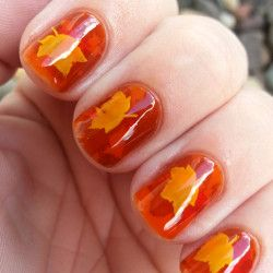nail trends fall leave nail polish fall