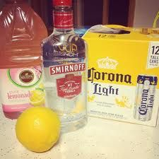 Pink Panty Dropper Punch Recipe  1/2 Gallon of Vodka 12 cans of beer 7 cans of Frozen Pink Lemonade