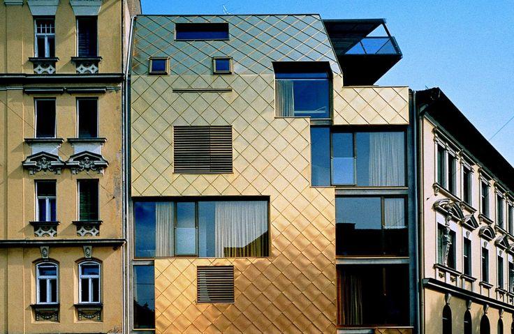 Dach-Metallpaneel und Profilplatte / Metallpaneel und -platte für Fassade TECU® Gold by KME Italy S.p.A. - ARCHITECTURAL SOLUTIONS