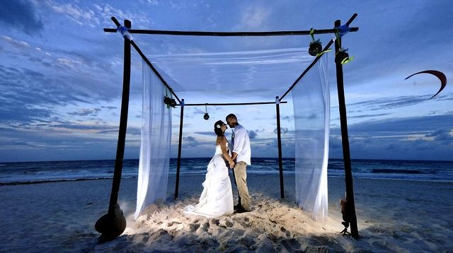 "The perfect way to say (and only way I will say...) ""I do."" AKIIN Beach Club - Tulum, Riviera Maya."
