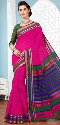 Coimbatore Cotton Sari Pink Plain Manafacturer Online BZ5056D77126