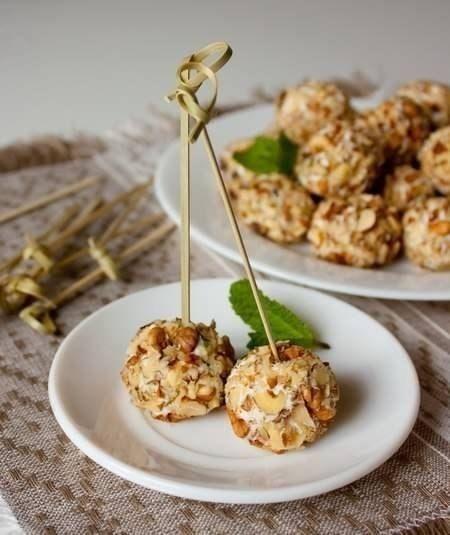 Закуска из сыра с грецкими орехами