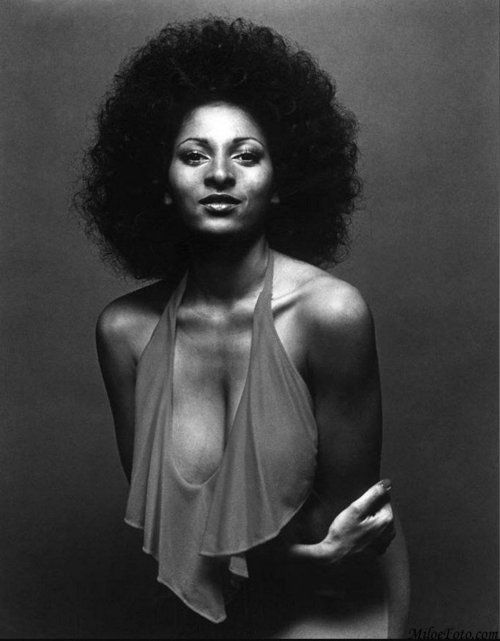 Pam Grier. A beauty queen who rose to stardom in blacksploitation movies. She always seemed like the ultimate Nubian Queen to me.