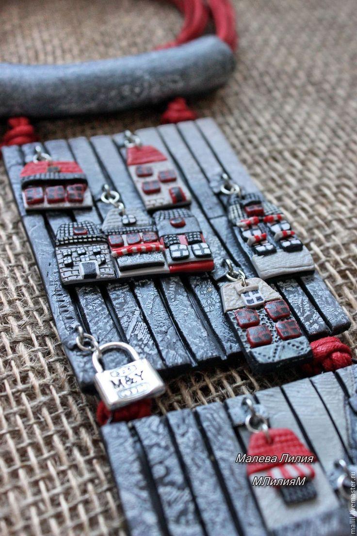"""Купить """"Ключи под ковриком"""" украшение из полимерной глины - украшения ручной работы, этно, бохо"""