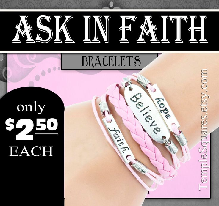 Bracelets - YW 2017 Ask of God Ask in Faith Young Women Theme Jewelry Charms DIY LDS New Beginnings girls camp Christmas, Birthday gifts by templesquares on Etsy