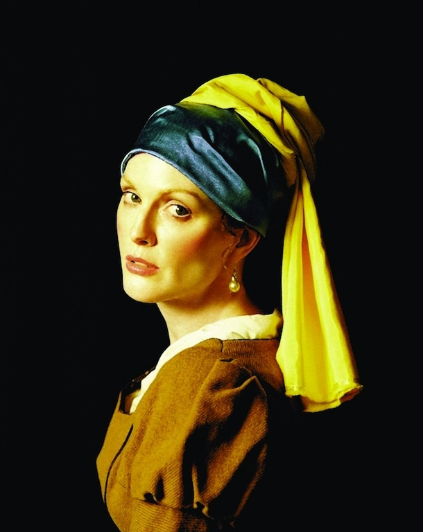 Julianne Moore Does Vermeer by Michael Thompson for Interview