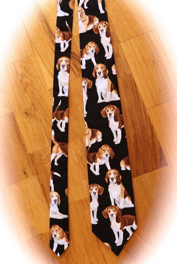 Welsh Corgi Tie Mens Dog Breed Neck Tie