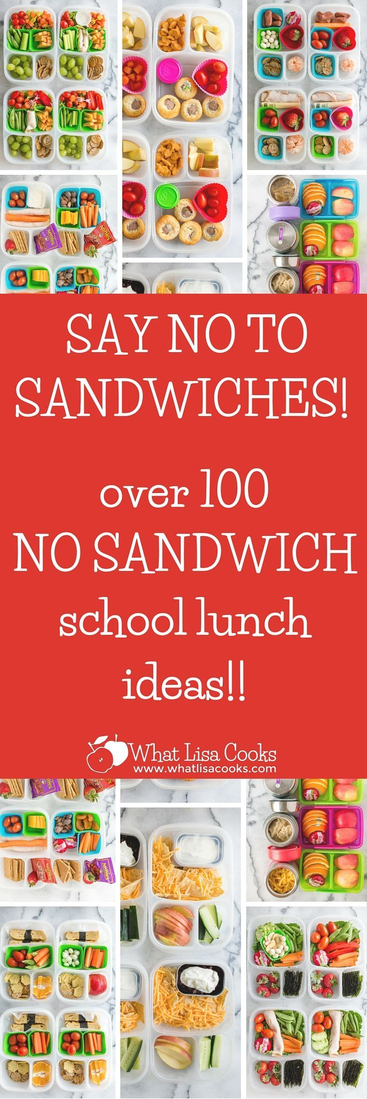 Dozens of easy non-sandwich school lunch ideas