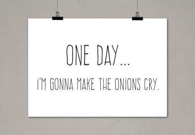 """Typo Poster """"One Day"""" / typo artprint """"one day"""", fun words by Einsaushundert via DaWanda.com"""
