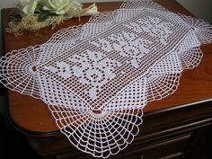 Crochet doily runner crochet lace runner crochet lace doily cottone bianco nuovo centrotavola ad uncinetto a mano crochet napkins napperon di MondoTSK su Etsy
