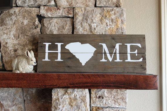 PINNED THERE, DONE THAT...South Carolina HOME Reclaimed Wood Sign