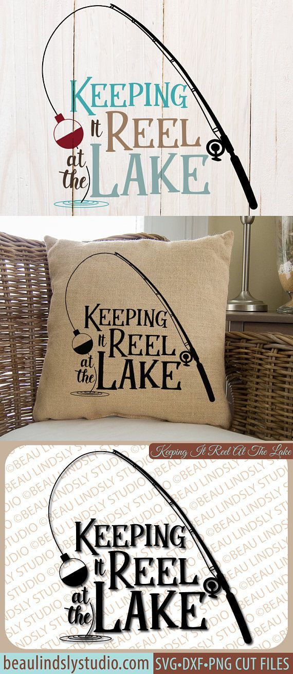 Fishing SVG, Lake Quote SVG Cutting File, Fishing Pun Clip Art, Fishing Reel SVG, Lake SVG, Silhouette SVG File Format, Cricut SVG File Format, DXF File, PNG Image File  This design is a fun cross between a fishing pun and celebrating life, or vacation, at the lake. Grab this design, and before you know it, you'll have thought of tons of ways to use it!  By: www.beaulindslystudio.com