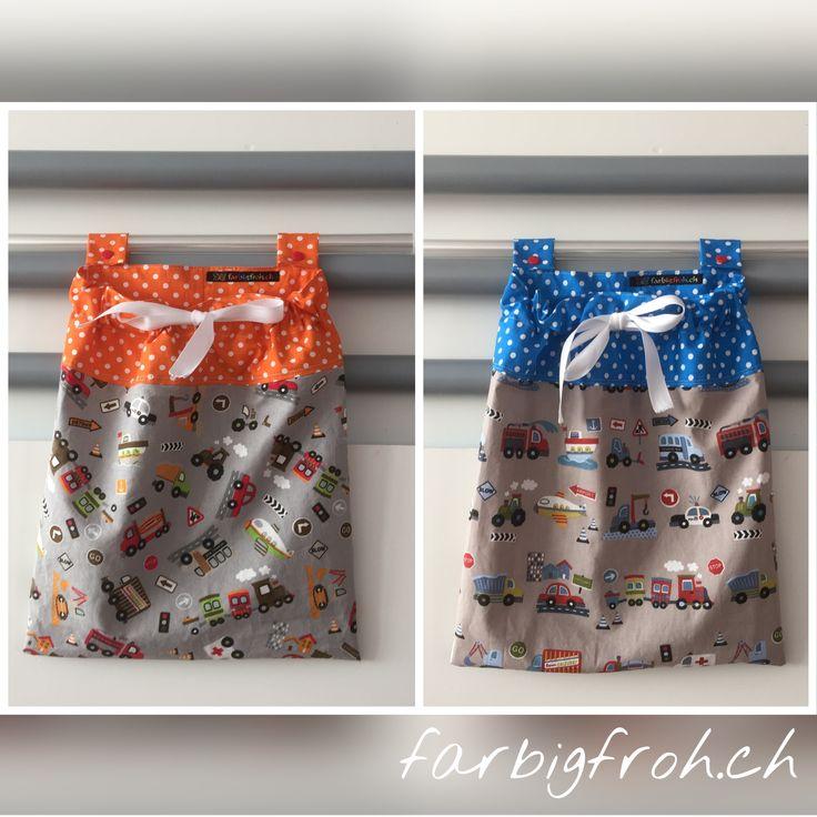 www.farbigfroh.ch #betttasche #bettutensilo #betttaschen #pyjamasack #pyjamatasche