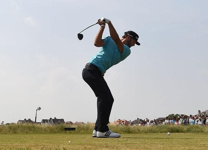 Dustin Johnson 2014 British Open Second Round