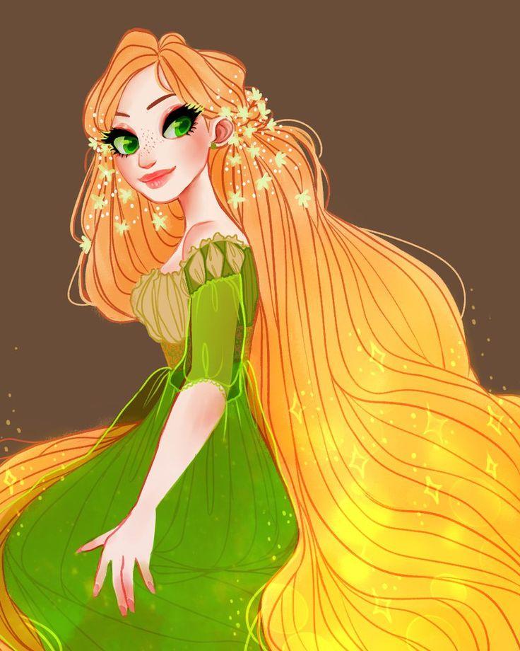 Concept Art Rapunzel + SPEEDPAINT by snownymphs on deviantART