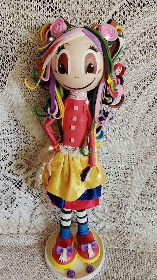 Muñequita multicolor