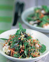Spinat-Linsensalat mit Feta - kraut&rüben