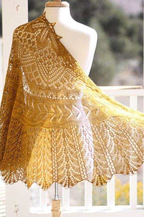 High Desert Shawl by Rosemary (Romi) Hill designs by Romi PATTERNFISH - the online pattern store
