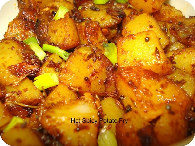 Hot Spicy Potato Fry   You Too Can Cook - Indian Food Recipes