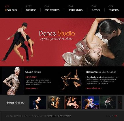 Dance Studio Flash Templates by Delta