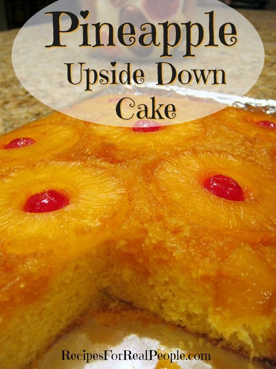 Pineapple Upside Cake Using Cake Mix