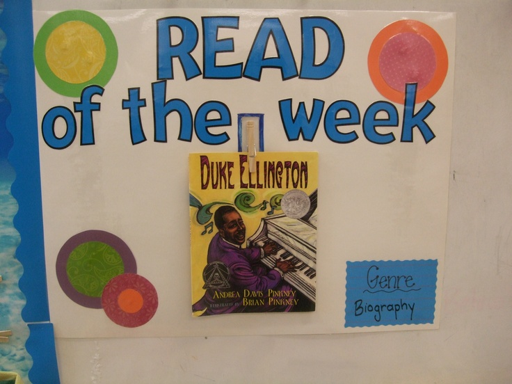 Display book starting at the beginning of the week to peak interest for the read aloud later.