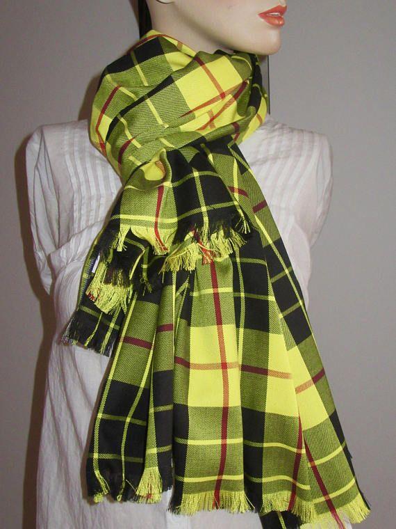 436fb05d239fc MacLeod of Lewis Tartan Plaid Fringe Scarf~Blanket Scarf~Women's ...