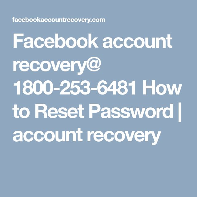 Facebook account recovery@ 1800-253-6481 How to Reset Password | account recovery