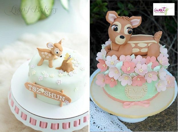 Cake Design Lyon : baby deer cakes, Bambi cakes by Lyon s Bakery left and ...