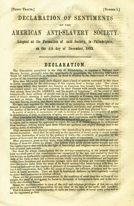 The resolutions passed at the Seneca Falls Convention in 1814 calling for female equality, including the right to vote. Not only women were present at the convention, but also men who all gave and supported their opinions over women rights.
